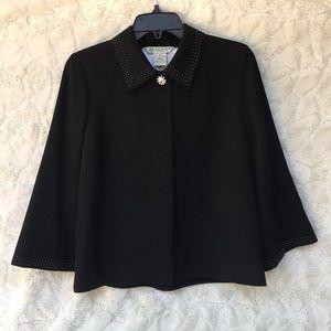 New Austin Reed Black Wool Open Front jacket Sz6